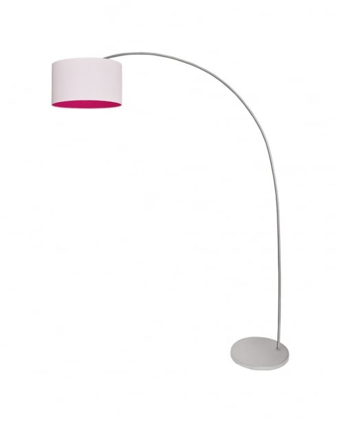 Esprit Fuchsia Modern White Floor Standing Reading Lamp 311354