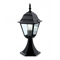 Firstlight 4 Panel Single Light Traditional Outdoor Light Post P203BK