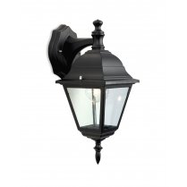 Firstlight 4 Panel Single Light Traditional Porch Light E201BK