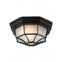 Firstlight 6 Panel Single Light Traditional Porch Light F609BK