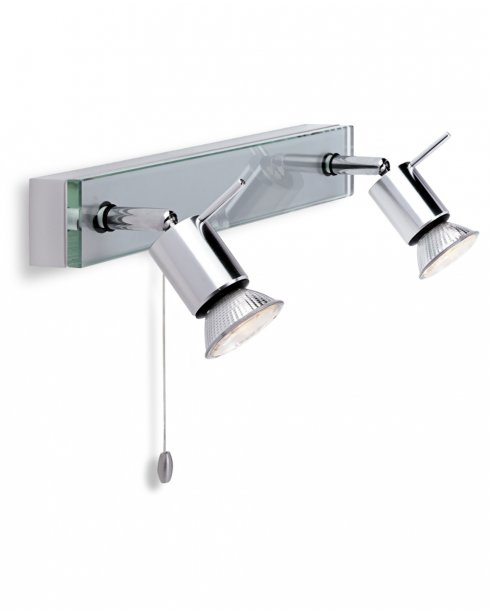 Firstlight Aqua 2 Light Modern Wall Mounted Spotlight 5513AL