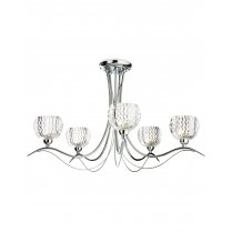 Firstlight Blanche 5 Light Crystal Multi-Arm Pendant 8620CH