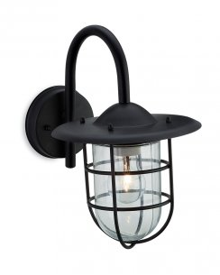Firstlight Cage Single Light Modern Porch Light 8352BK
