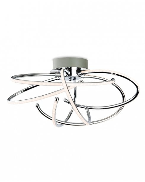 Firstlight Caprice Polished Chrome LED Flush Ceiling Fitting 4851CH