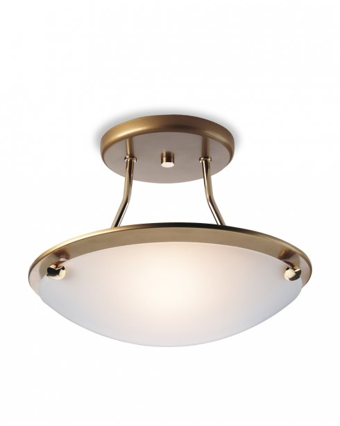 Firstlight Champagne Single Light Modern Semi-Flush Fitting S300SB