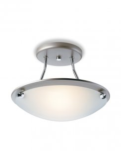 Firstlight Champagne Single Light Modern Semi-Flush Fitting S300SS