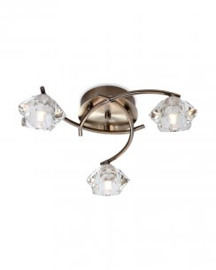 Firstlight Clara 3 Light Traditional Semi-Flush Fitting 8364AB