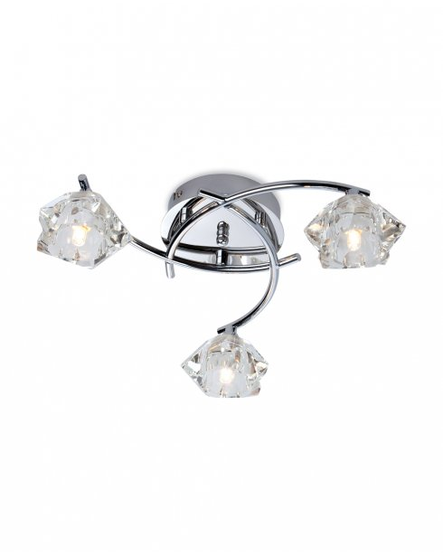 Firstlight Clara 3 Light Traditional Semi-Flush Fitting 8364CH