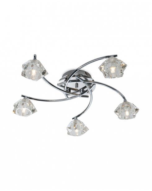 Firstlight Clara 3 Light Traditional Semi-Flush Fitting 8365CH