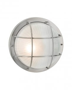 Court Stainless Steel Outdoor Bulkhead Style Wall Light 3425ST