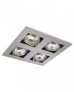 Firstlight Cube 4 Light Modern Recessed Ceiling Light 1504BS