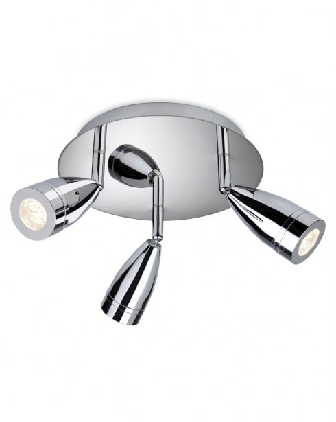 Firstlight Storm 3 Light Modern Bathroom Spotlight Fitting 8383CH
