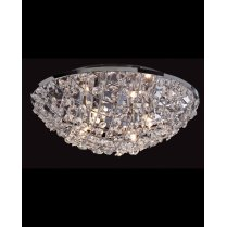 Firstlight Gemma 4 Light Crystal semi-flush Ceiling Fitting 8252CH