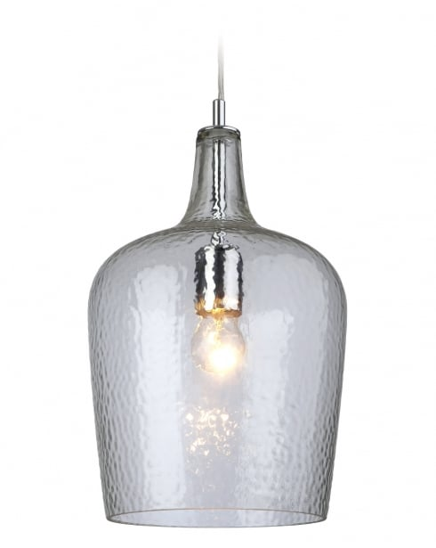 Firstlight Glass Single Light Traditional Pendant Light 2301CL