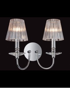 Firstlight Grace 2 Light Modern Decorative Wall Light 8209CH