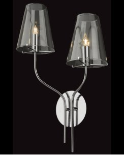 Firstlight Jasmine 2 Light Modern Decorative Wall Light 4232CH