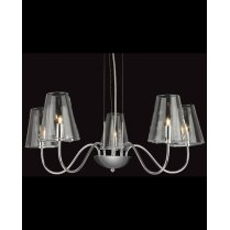 Firstlight Jasmine 5 Light Modern Multi-Arm Pendant 4233CH