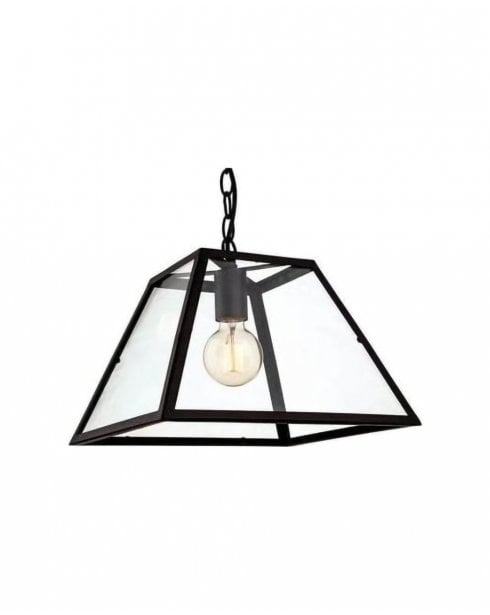 Firstlight Kew Black Metal Vintage Pendant 3439BK