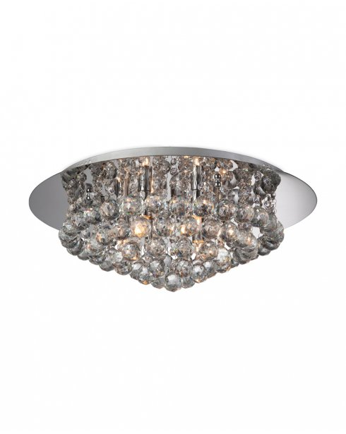 Firstlight Liberty 6 Light Crystal semi-flush Ceiling Fitting 8314CH