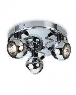 Firstlight Magnetic 3 Light Modern Spotlight Fitting 3352CH