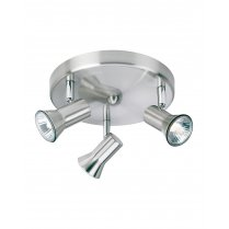 Firstlight Magnum 3 Light Modern Spotlight Fitting 6093BS