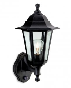 Firstlight Malmo PIR Single Light Traditional Porch Light 8401BK