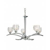 Firstlight Maple 5 Light Crystal Multi-Arm Pendant 8617CH
