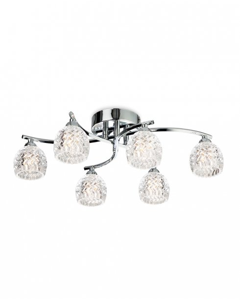 Firstlight Maple 5 Light Crystal Semi-Flush Fitting 8615CH