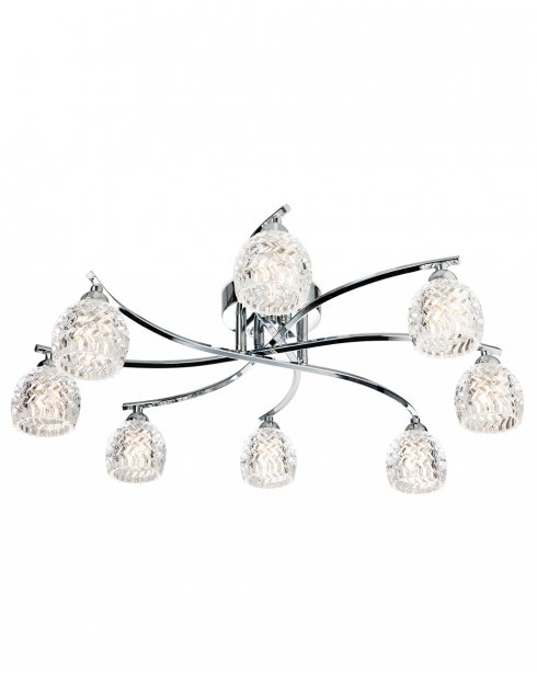 Firstlight Maple 8 Light Crystal Semi-Flush Fitting 8616CH