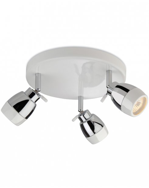Firstlight Marine 3 Light Modern Bathroom Spotlight Fitting 8203WH