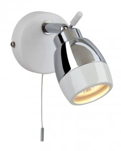 Firstlight Marine Single Light Modern Bathroom Spotlight Fitting 8201WH
