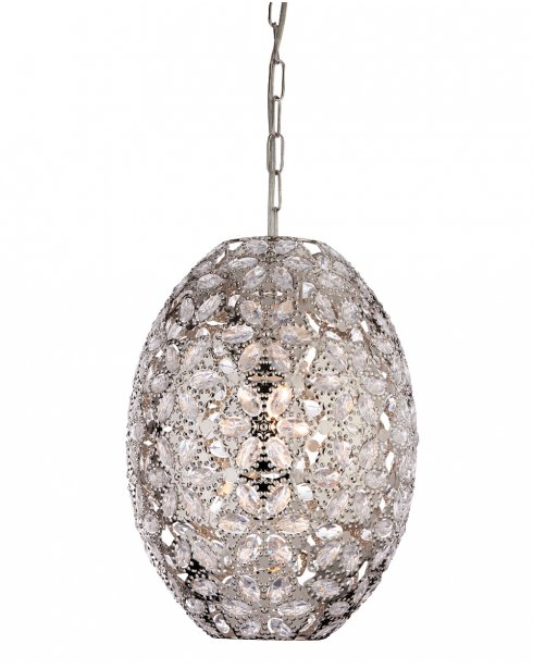 Firstlight Mirage Single Light Crystal Pendant Light 8646CH