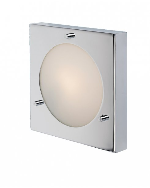 Firstlight Nova Single Light Modern Bathroom Flush Wall Light 5589CH