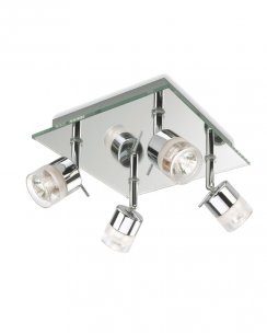 Firstlight Ocean 4 Light Modern Bathroom Ceiling Fitting 6097CH