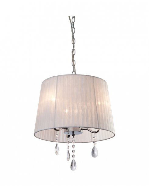 Firstlight Organza 3 Light Modern Pendant Light 8308WH