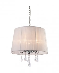 Firstlight Organza 5 Light Modern Pendant Light 8309WH
