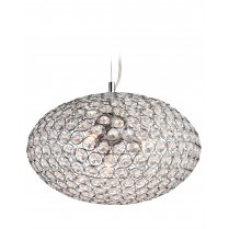 Firstlight Oval 4 Light Crystal Pendant Light 8625CH