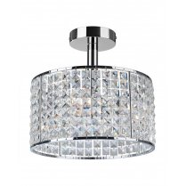 Firstlight Pearl 4 Light Crystal Bathroom Ceiling Fitting 6152CH