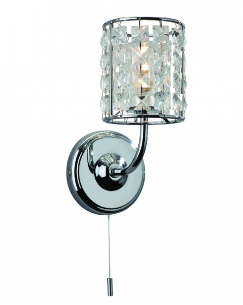 Firstlight Pearl Single Light Crystal Bathroom Wall Fitting 6150CH