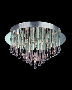 Firstlight Perla 20 Light Modern semi-flush Ceiling Fitting 3321CHBK