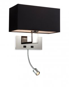 Firstlight Prince 2 Light Modern Articulated Wall Light 8608BK