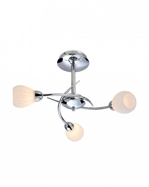 Firstlight Rena 3 Light Modern Semi-Flush Fitting 8234CH