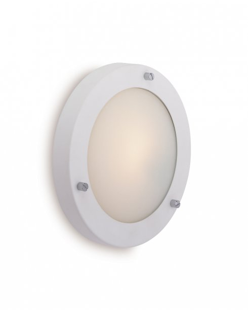 Firstlight Rondo Single Light Modern Decorative Wall Light 2745WH