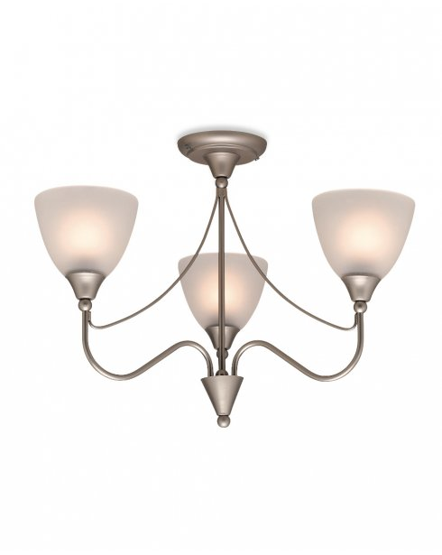 Firstlight Santana 3 Light Traditional Semi-Flush Fitting 8039SS