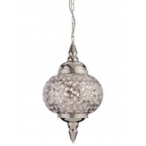 Firstlight Taj Single Light Crystal Pendant Light 8648CH