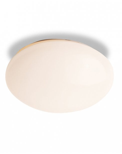 Firstlight White Glass Recessed Flush Bathroom IP44 Ceiling Fitting
