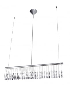 Leuchten Direkt Ida Crystal Chrome Pendant Light 15037-17