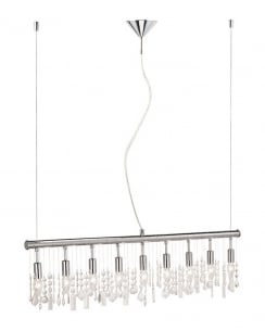 Leuchten Direkt Lucia Crystal Chrome Pendant Light 15019-17