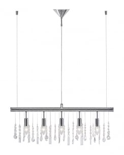 Leuchten Direkt Maren Crystal Chrome Pendant Light 15015-17