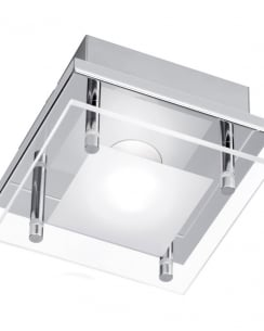 Paul Neuhaus Chiron Modern Clear Flush Ceiling Fitting 6031-17